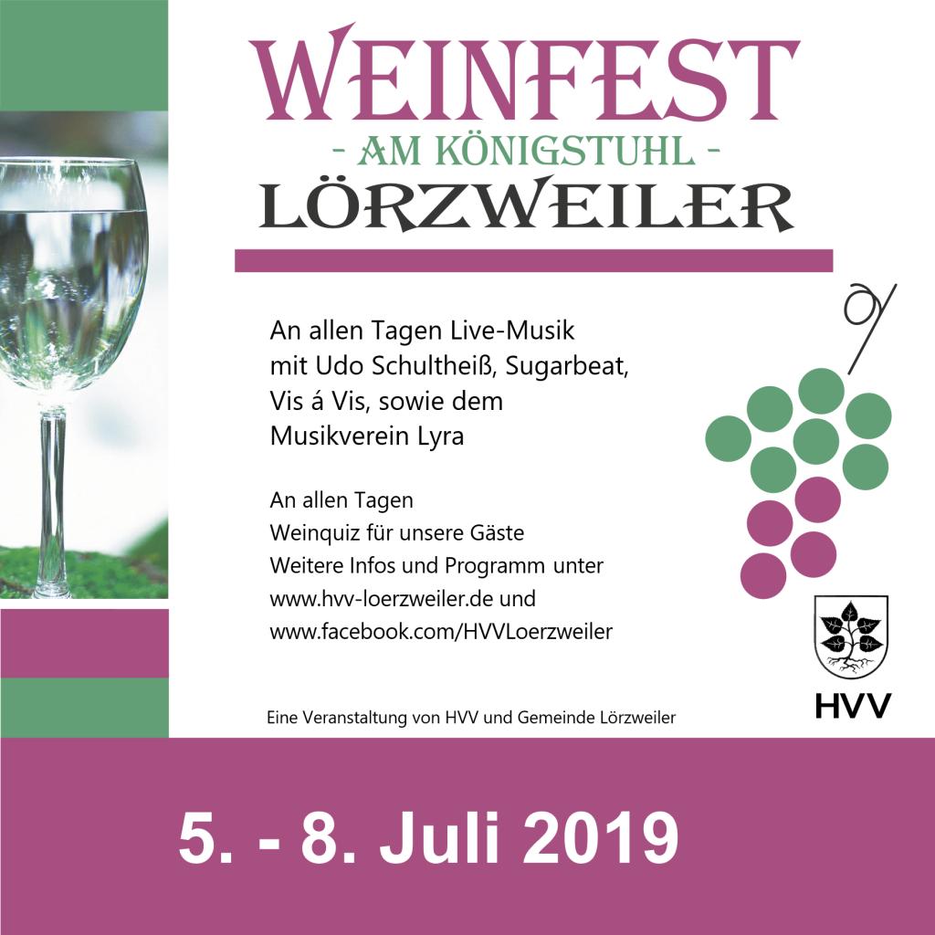 Weinfest-Werbung 2019