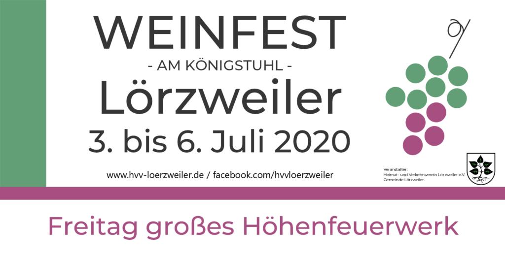 Weinfest 2020 3.-6. Juli