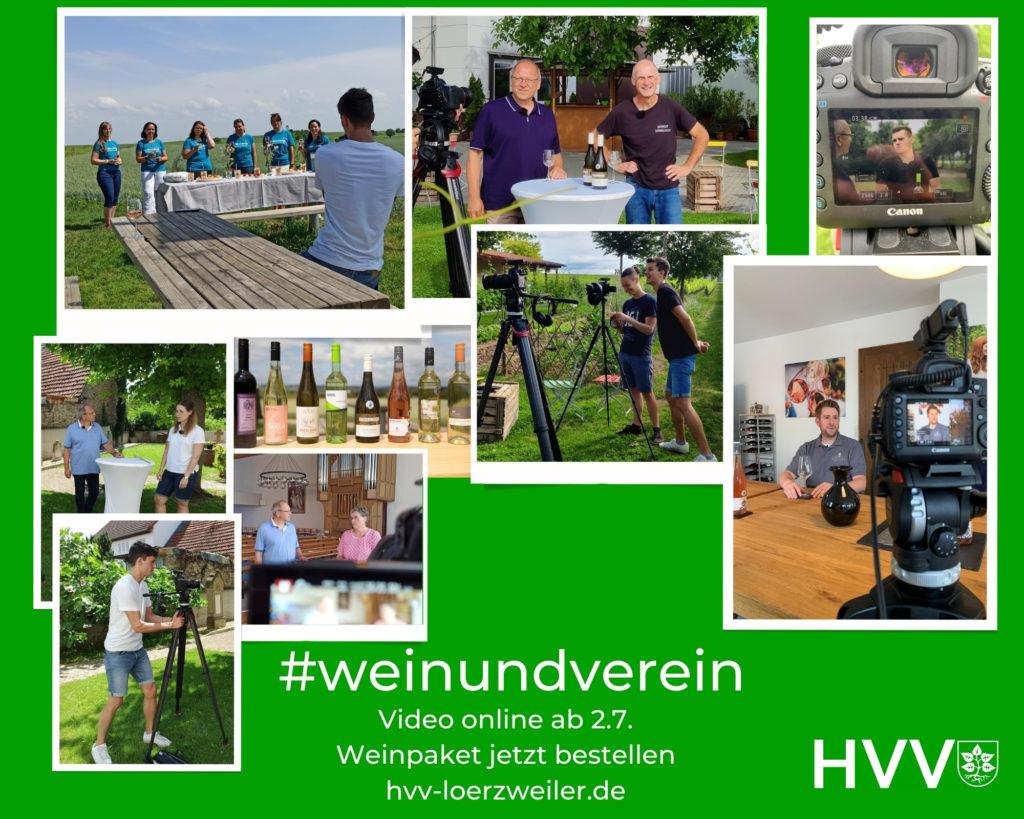 Wein und Verein - Teaserbild mit Ausschnitten aus dem Video - ganzes Video online am 2.7.2021 eigene Fotos bzw. Copyright Justus Hamberger